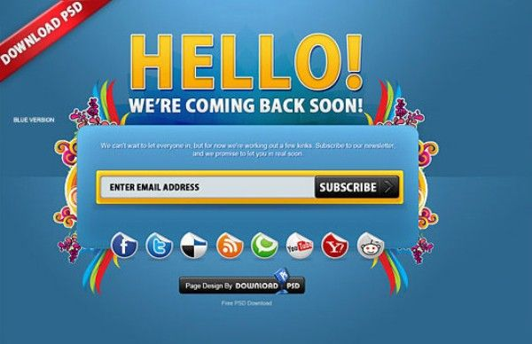 45+ Free Under Construction and Coming Soon Templates