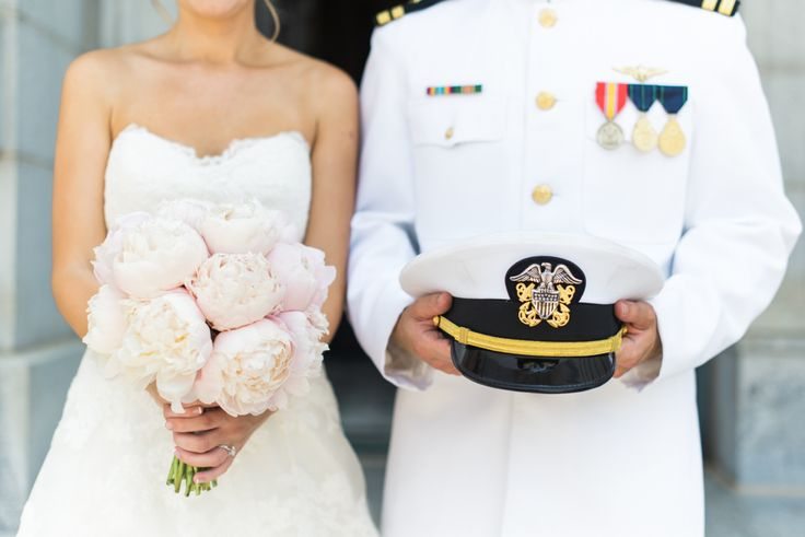 U.S. Navy newlyweds: http://www.stylemepretty.com/maryland-weddings/annapolis/2015/08/17/elegant-naval-academy-wedding-in-annapolis/ | Photography: Joy Michelle - http://joymichellephotography.com/