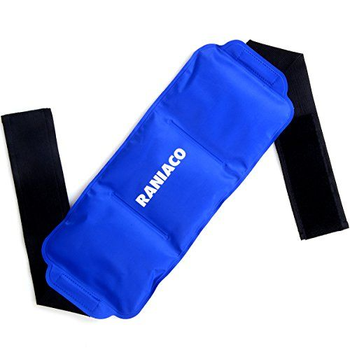 Reusable Ice Pack,Raniaco Gel Pack with Wrap, Flexible Velcro Strap for Hot Cold Therapy Waist Head Back Neck Shoulder Ankle Sports Muscle Pain Relief