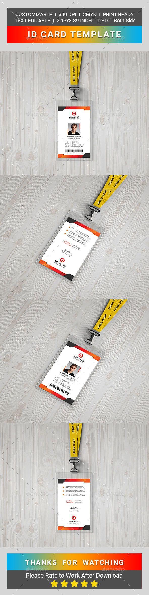 #IDCard - Miscellaneous Print Templates