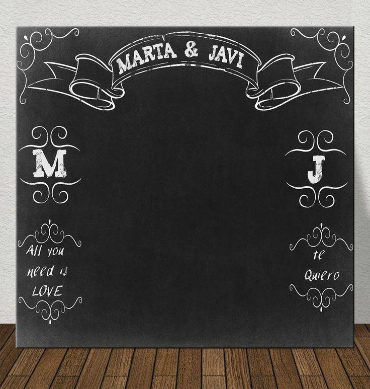 #photocall #chalk paint #chalkboard http://photocalls.es/
