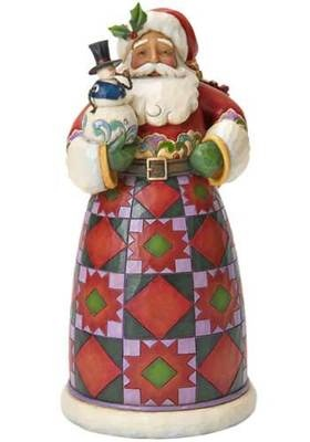 Jim Shore Heartwood Creek Christmas Xmas Santa Holding Snowman Figurine 4022919 | eBay