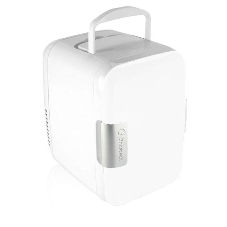 Zone Tech Portable Mini Fridge Cooler Warmer Car Boat Home Office AC DC White #ZoneTech