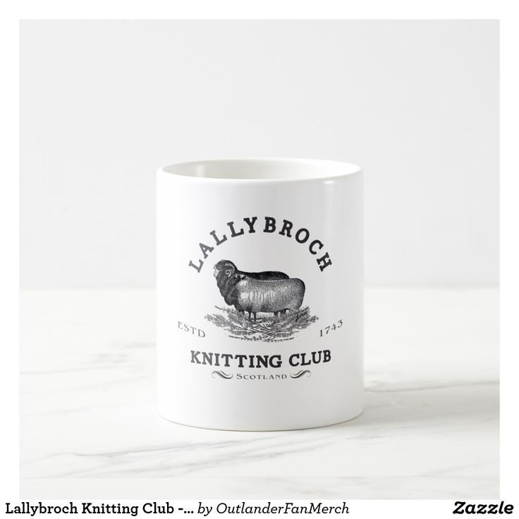 Lallybroch Knitting Club - Outlander Coffee Mug - Outlander follows the story of Claire Randall, a married combat nurse from 1945 who is mysteriously swept back in time to 1743, where she is immediately thrown into an unknown world where her life is threatened. When she is forced to marry Jamie Fraser, a chivalrous and romantic young Scottish warrior, a passionate relationship is ignited that tears Claire's heart between two vastly different men in two irreconcilable lives. (affiliate)