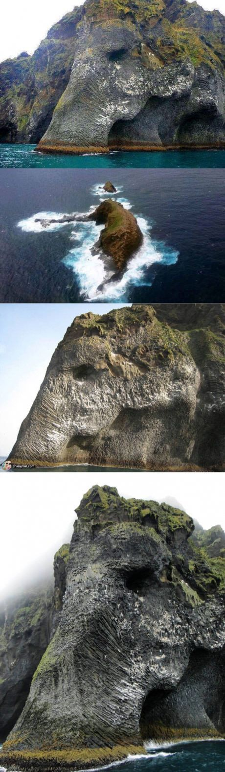 // Elephant Rock in Heimaey, Iceland. I would love to hear the folklore about this little island. //