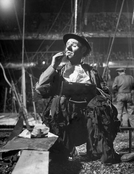 Emmett Kelly As Weary Willie In 1948 At Madison Square Garden With Ringling Bros Photo By