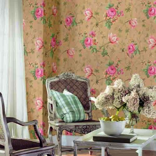Interior Place - Pink Tan LN7542 Rose Tulip Floral Vine Wallpaper, $22.95 (http://www.interiorplace.com/pink-tan-ln7542-rose-tulip-floral-vine-wallpaper/)