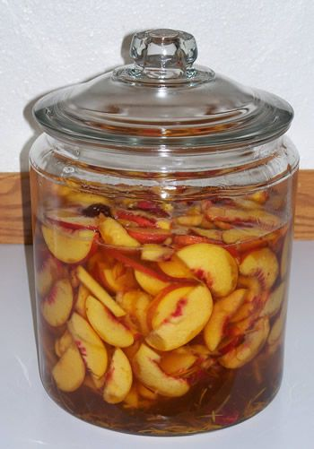Peach Liqueur -- i eventually have to give maceration a shot... it'd be so much cheaper than buying flavored vodka!