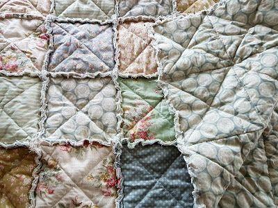 Hjertetunet: Rag quilt i Tilda stoffer