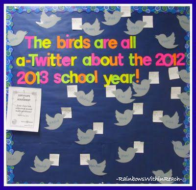 Twitter Bulletin Board- use for beginning of school year goals?