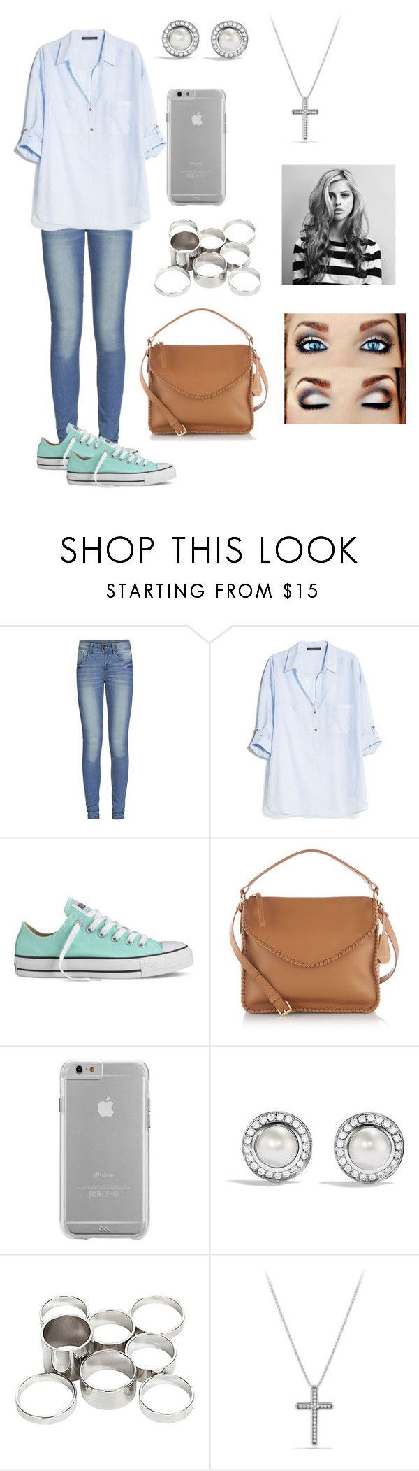 """""""...."""" by katiealford ❤ liked on Polyvore featuring ONLY, MANGO, Converse, Henri Bendel, Case-Mate, David Yurman and Missguided"""