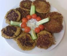 Thermomix vegetable fritters. Gluten, dairy and egg free.