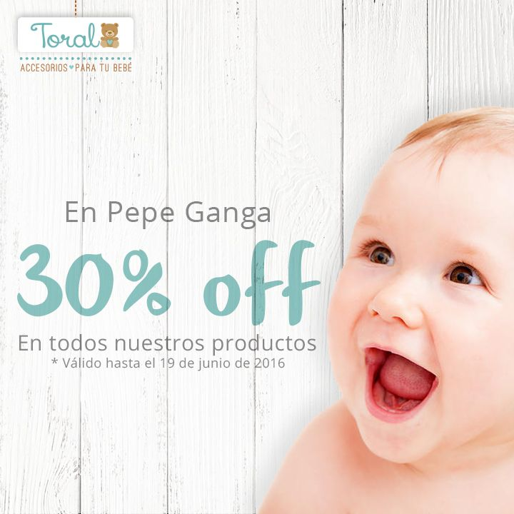 ¿Sabes qué?  Pepe Ganga te está ofreciendo un descuento en todos nuestros productos del 30%. ¡Corre y aprovecha! *Válido hasta el 19 de junio de 2016.