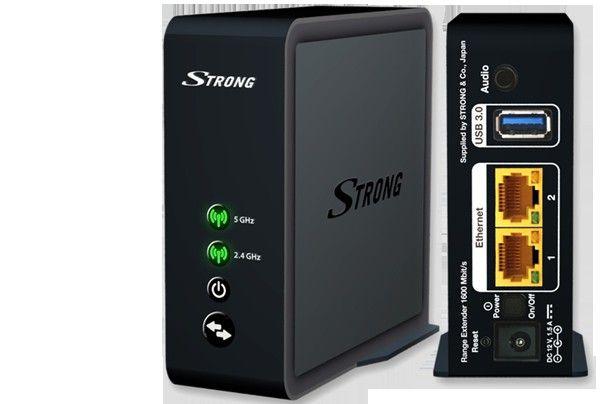 STRONG Wi-Fi Extender 1600 | Satelittservice tilbyr bla. HDTV, DVD, hjemmekino, parabol, data, satelittutstyr