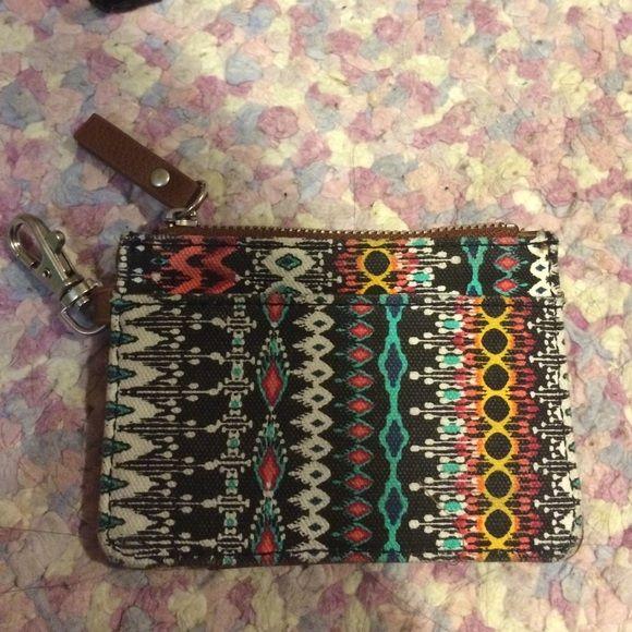 Aero wristlet Cute Aero wristlet, in excellent used condition. Aeropostale Bags Clutches & Wristlets
