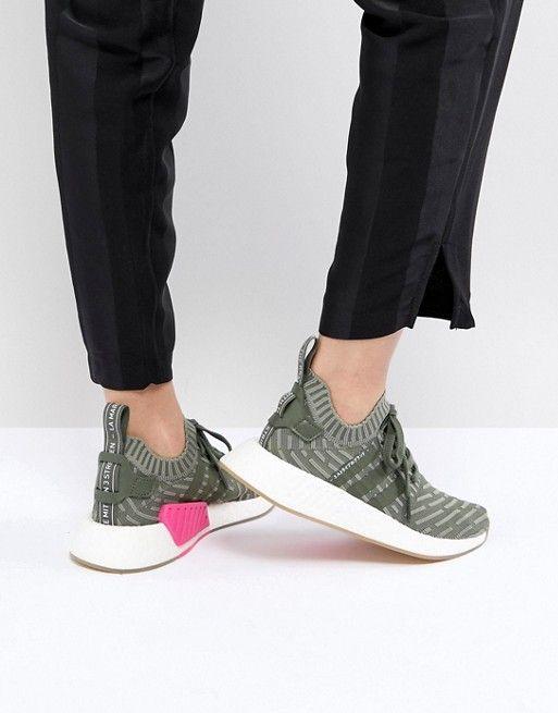 2ff337e43bd2b adidas Originals NMD R2 Sneakers In Green