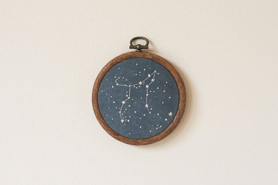 Perseus Constellation embroidery by ChloeGiordano on Etsy, $20.00