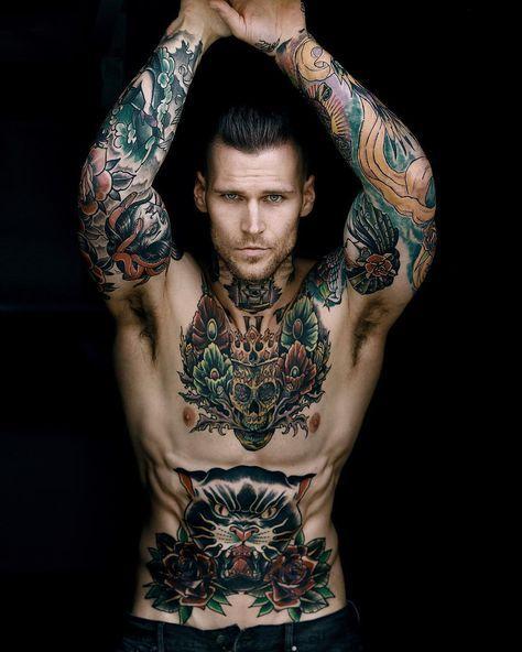 Тату модель Marshall Perrin   Male tattoo model Marshall Perrin