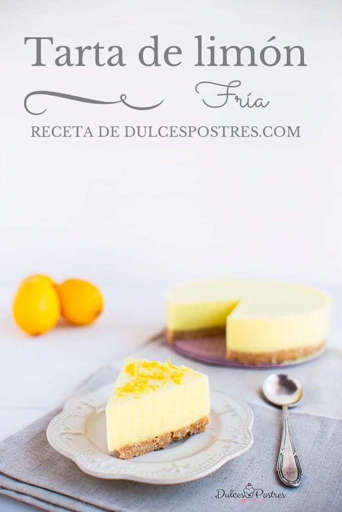 Receta de tarta de limón fría