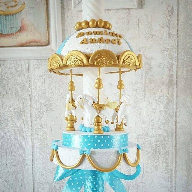 Best sellerul lunii august  lumanare Carusel pentru baietei  #lumanaridebotez #DeliciumMic #luamanaribotez #babydecor #babycandle #carusel #carousel #carouseldecoration #cake #candle #baptismcandle #babybaptism - http://ift.tt/1ipRjKg -