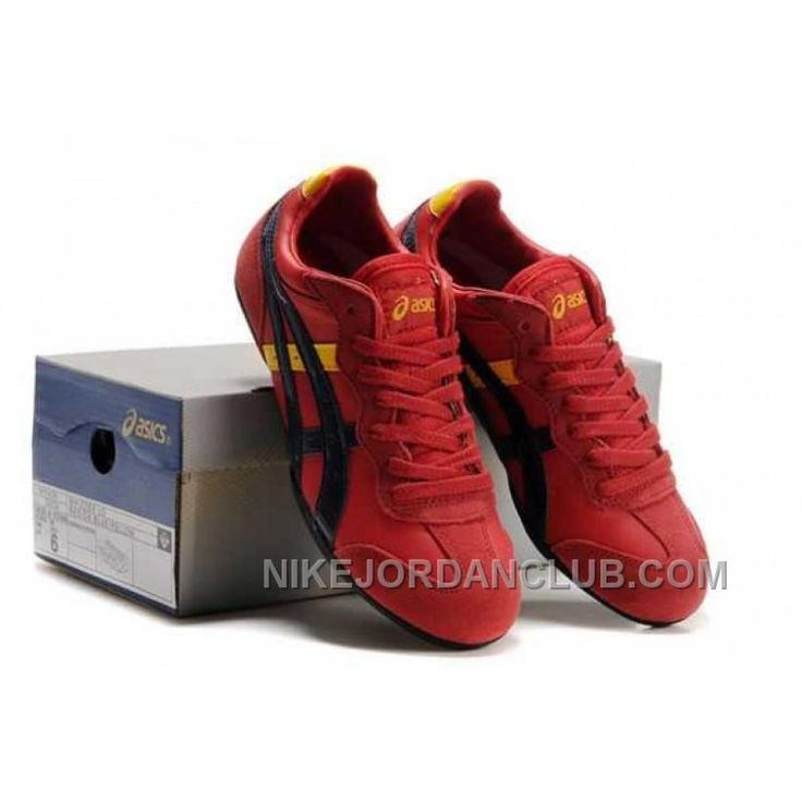 Asics Whizzer Lo Mens Red Black Yellow