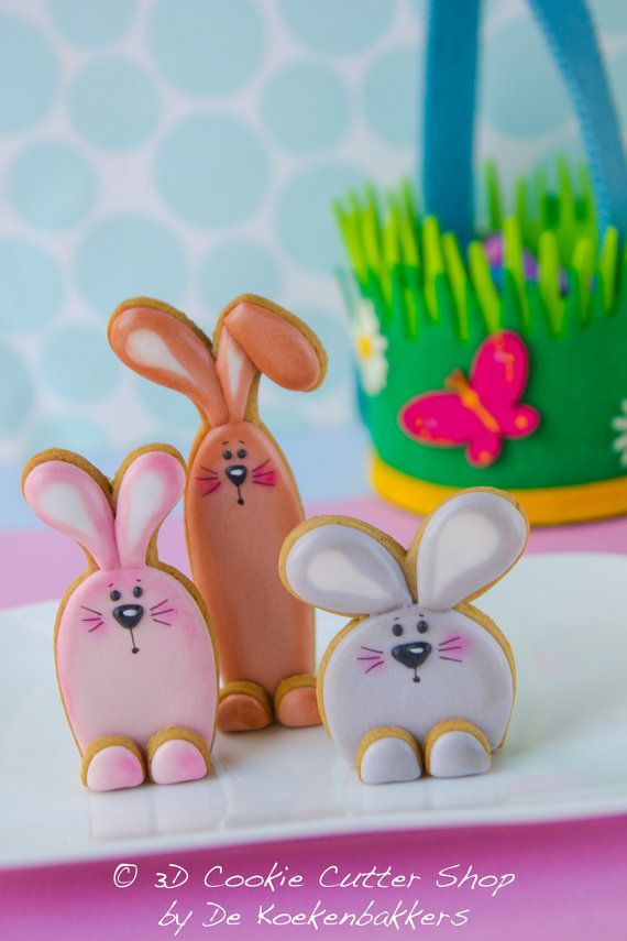 3D Bunny Cookie Cutter Set от 3DCookieCutterShop на Etsy