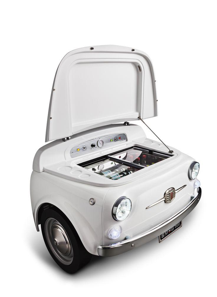 SMEG500B Exclusive Fiat500 design refrigerator-cellar, White Energy efficiency class A+