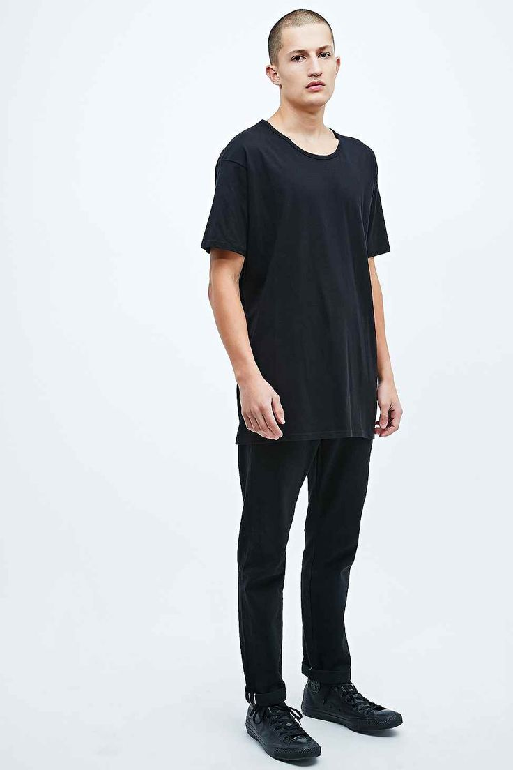 Son of Wild Drop Longline Tee in Black