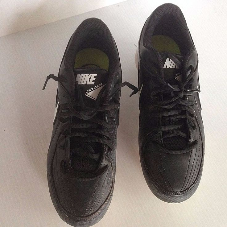 Nike Unify Strike Men's size 8 1/2 Black Baseball Metal Cleats #Nike
