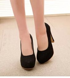 Buy 2016 new summer rough heel high heeled round shallow mouth low to help women shoe. Click visit to read descriptions