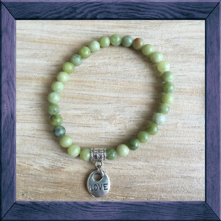 #HARMONY Yoga Mala: #LOVE #Charm Bracelet - #JADE is a stone of harmony - said to #bless whatever it touches.