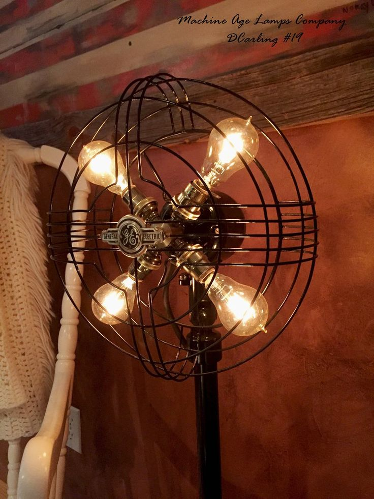 What Was The First Electric Fan : Best vintage fan lamps images on pinterest