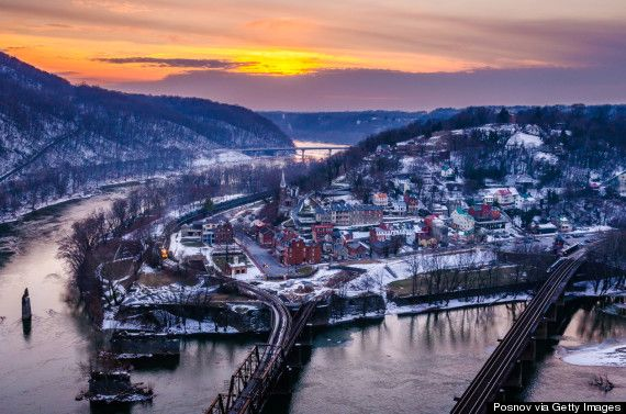 West Virginia- Harpers Ferry. National Historic Park and home to the Appalachian Trail Conservancy