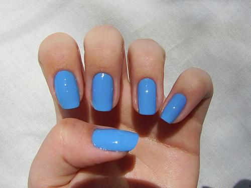 I j'adore this color! And someone has a long nail bed! Work it girl!