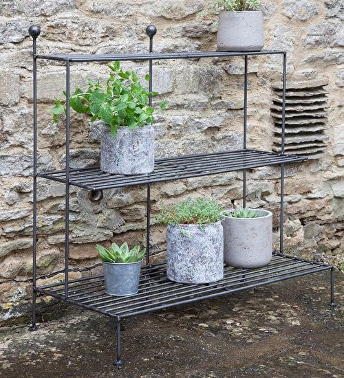 Display your treasured plants on this stylish plant theatre, made from sturdy steel with a matt laquer finish. Add to your garden today.