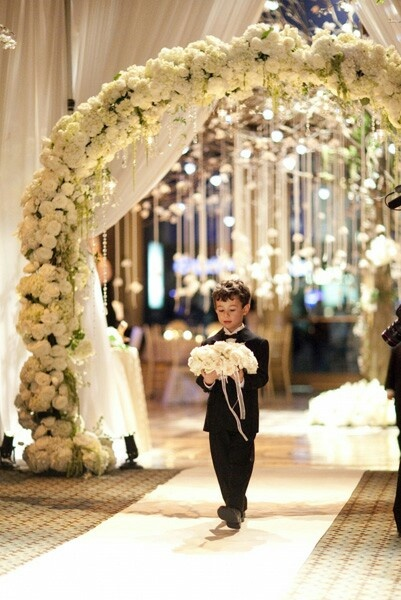 Flower Arch Wedding Ceremony Glamorous Elegant Classy