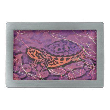 Purple Turtle Rectangular Belt Buckle - photos gifts image diy customize gift idea