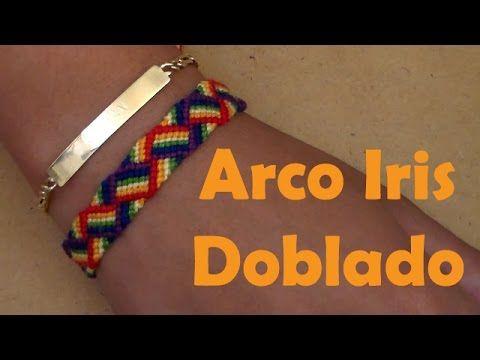 Pulsera de Hilo: Arco Iris Doblado