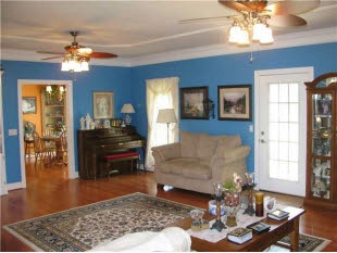 This blue really makes this room stand out and adds character to a beautiful home.  Find this home on Realtor.com: Unique, Blue, Beautiful, Realtor Com, Homes, Room Stand, Rooms