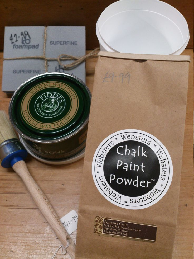 Chalk Painting Kit with Websters Chalk Paint Powder & Fiddes Wax by SchubeyVintage on Etsy