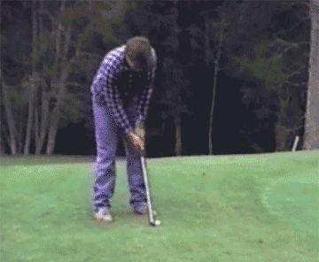 Lo peor es que, en un campo de golf, nunca sabes por donde acecha el peligro