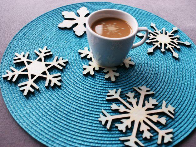 Podkładki śnieżynki by pola-art nadadzą stołowi zimowe klimatu nawet wtedy, za oknem nie będzie biało :) #niezchinzpasji
