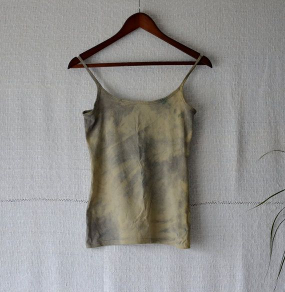 SIZING: small. Size UK 10, US 8, AUS 12. Measures when laid flat 15 across chest (from underarm points) and 23 long.  My hand dyed clothing is