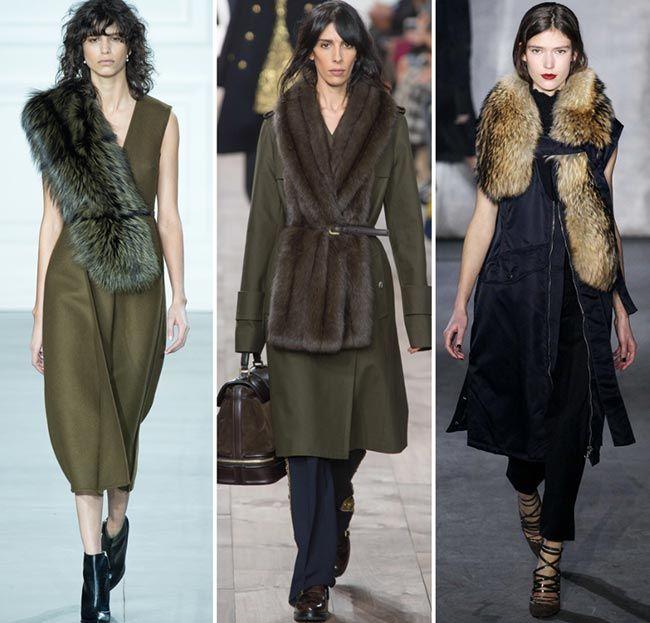 Осень / Зима 2015-2016 Тенденции моды: Мех палантины