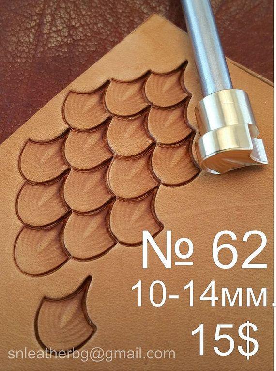 Herramientas para artesanías. Sello 62 por LeatherStampsTools