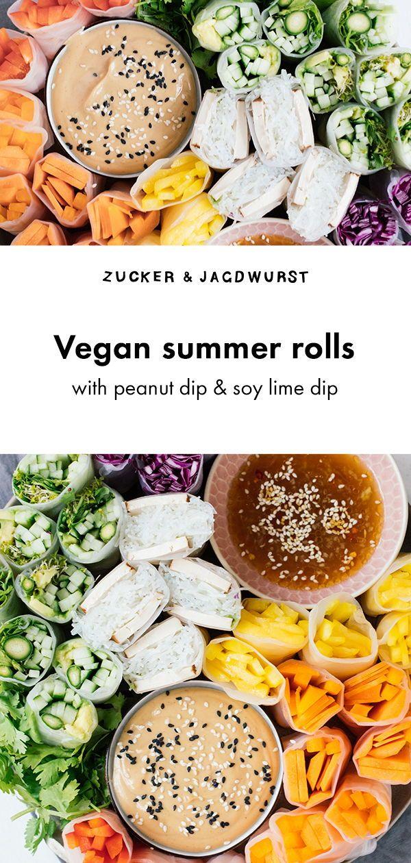 Vegan Summer Rolls with 2 Dips