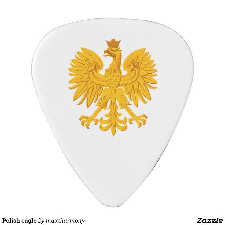 Polish eagle guitar pick