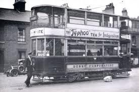 A Tram, the location looks like Nottingham road, derby