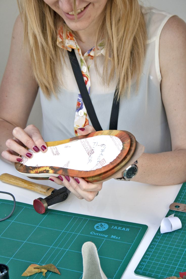 DMU footwear design student Lottie Roberts creating sports shoes for festival visitors on day three of the event in Istanbul, giving her the opportunity to network with creative industries. The university is committed to the best student experience and employability.