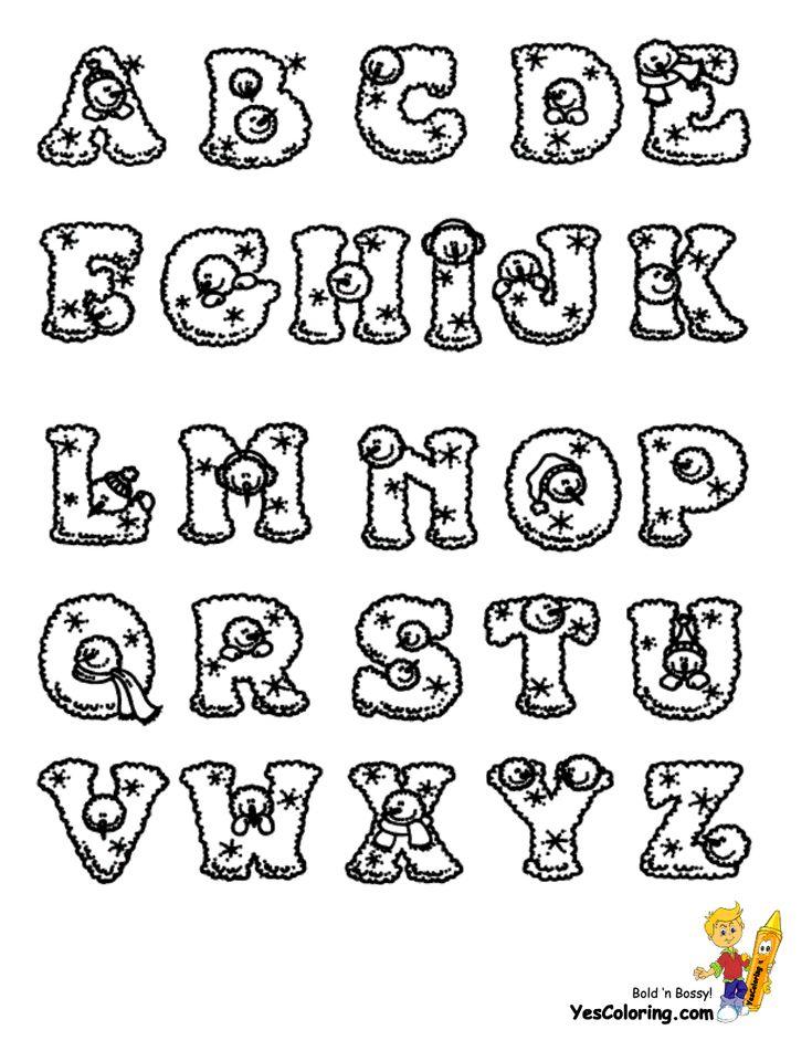 lumpy snowman christmas letters  free  alphabet